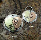Ying Yang Heart - Island Top Custom Tags