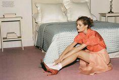Textured heels, skirt, white socks