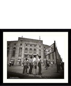 FRAMED Yankee Boys 32x24 Art Print Poster Vintage Yankee Stadium Bronx New York