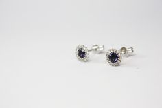 $548  White gold earrings, 18k Iolita and white diamonds #dreamcollection #jartwen #whitediamonds