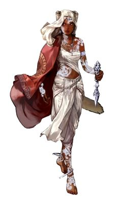 Female Human Life Oracle of Pharasma - Pathfinder PFRPG DND D&D 3.5 5th ed d20 fantasy