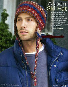 TEJER GANCHILLO CROCHET: Patrón de precioso gorro de hombre para  tejer.