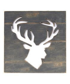 Look at this Gray Deer Cutout Wall Art on #zulily today!