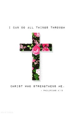 Philippians 4:13 is what my closest friend recited to our youth group after the announcement her mother has passed away! We know and learn that through Christ we get our strength and we do not have to depend in others for that love or support cause it's all in Christ