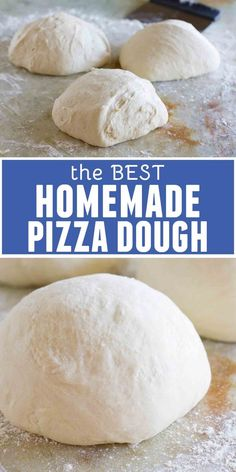 My all-time favorite homemade pizza dough recipe, this recipe has been tried and tested week after week, making the best homemade pizza. My family now likes homemade pizza better than take-out! recipes for kids The Best Homemade Pizza Dough Recipe, Garlic Pizza Dough Recipe, Fluffy Pizza Dough Recipe, Italian Pizza Dough Recipe, Kitchenaid Mixer Pizza Dough Recipe, Recipe For Pizza Dough, Homeade Pizza Dough, Bread Flour Pizza Dough, Stromboli Dough Recipe