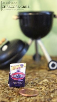 Dollar Store Crafts » Blog Archive » Tutorial: Dollhouse Charcoal Grill