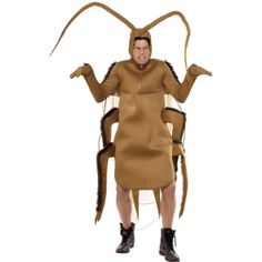 Cockroach Costume Code FCCOK-M Cockroach Costume Brown Bodysuit with Sleeves. Fun cockroach costume for Halloween or just for a fancy dress party!  sc 1 st  Pinterest & 25 best Bryony Theatrical Mens Animal Costumes images on Pinterest ...