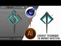 c4d Tutorial: EASIEST way to import illustrator file into cinema 4D - YouTube