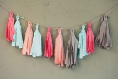 No Sew Tassel Garland  The easiest way to embellish your patio is with a brightly colored garland.