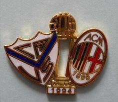 DISTINTIVO PIN - VELEZ SARSFIELD-MILAN - FINALE COPPA INTERCONTINENTALE 1994 Ac Milan, Liverpool Fc, Football, Soccer, Italy, American Football, Soccer Ball