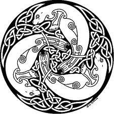 Selkie seals in Celtin knot