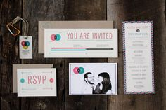 infographic wedding invitation