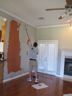Valspar Woodlawn Colonial Gray - Paint + Primer covered previous color completely with 1 coat! diystinctlymade.com