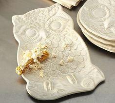 White Owl Platter #potterybarn  $49.50