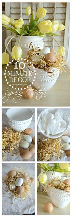 10 MINUTE DECOR-SPRING EDITION easy and prett spring decor