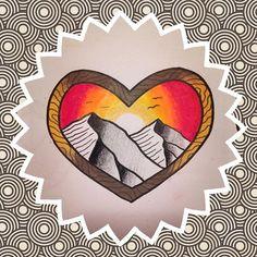 Mountain Flash by Grim Gabe Tattoo Flash Art, Bat Signal, Superhero Logos, Mountain, Tattoos, School, Tatuajes, Tattoo, Tattos