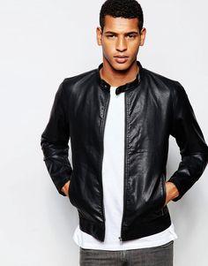 Image 1 ofProdukt Faux Leather Biker Jacket