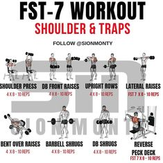 Shoulders & Traps by . ⁉️Have YOU tried our cutting edge su… Shoulders & Traps by . ⁉️Have YOU tried our cutting edge supplements? Arm Workout Men, Traps Workout, Gym Workout Chart, Cardio Workout At Home, Gym Workout Tips, Dumbbell Workout, Workout Women, Workout Exercises, Shoulder And Trap Workout