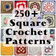 Free Crochet Squares Patterns                                                                                                                                                      More
