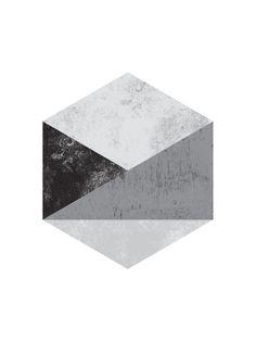 Hexagon Art Art Print by I Love Printable