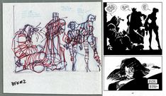 Sin City prelim Comic Art