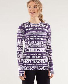 long sleeve workout tee :) Manifesto LS          #FinishLine #SwagBag