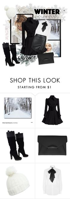 """winter outfit"" by ina-kis ❤ liked on Polyvore featuring BCBGMAXAZRIA, Givenchy, Miss Selfridge, Polo Ralph Lauren and Parisian"