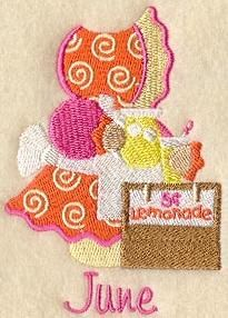 Machine Embroidery Designs at Embroidery Library - Sunbonnet Sue Quilt Machine Embroidery Applique, Applique Patterns, Quilt Patterns, Embroidery Ideas, Embroidered Quilts, Applique Quilts, Sue Sunbonnet, Embroidery Techniques, Quilt Blocks