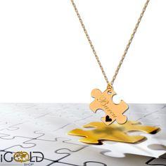 PUZZLE HALSKETTE #puzzle #fashion #kunst #art #mode #jewelry #accessories #taschen #schmuck