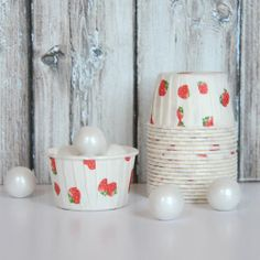 strawberry cups...for baking, candy, fruit, pasta salad, snacks, or whatever!  $5 for 20 {TomKat Studio Shop}