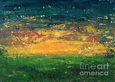 Abstract Sunset by Anne Clark #painting #abstract