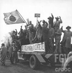 Campanha de Getúlio Vargas para as eleições presidenciais de 1950. Rio Grande (RGS), entre 9 ago e 30 set 1950.