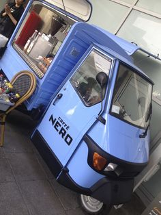 Coffee Van converted by www.coffeelatino.co.uk for Caffe Nero. Piaggio Ape 50