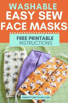 How to Sew Your Own Washable Face Masks During times of shortage, the CDC recommended type of mask may not be available. Learn how to sew your own washable face masks with removable inserts for your family. Stay healthy and safe! Small Sewing Projects, Sewing Hacks, Sewing Tutorials, Sewing Crafts, Dress Tutorials, Sewing Tips, Easy Face Masks, Diy Face Mask, Techniques Couture