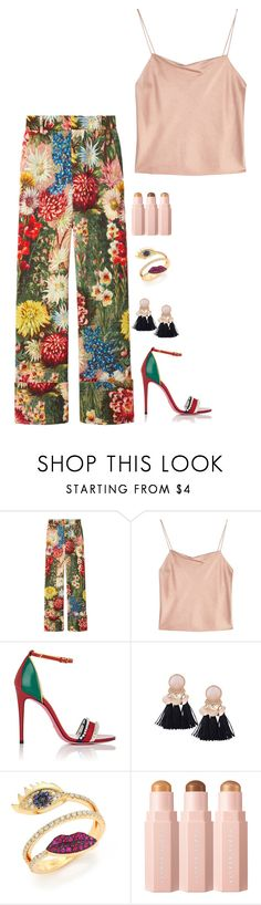 """""""Untitled #1233"""" by h1234l on Polyvore featuring Gucci, Alice + Olivia and Delfina Delettrez"""