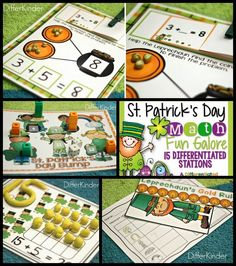 15 Diffierentiated, Math Stations with a St. Patrick's twist.