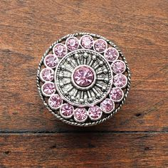 Crystal Drawer Knobs   Furniture Knobs With Pink Glass Crystals (MK113) In  Silver