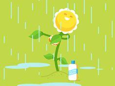 Rain Shower - Animated Gif on Behance Rain Cartoon, Cartoon Gifs, Shower Gif, Rain Shower, Animiertes Gif, Animated Gif, Rain Animation, Rain Gif, New Year Pictures