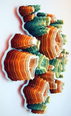 Layered paper sculptures by Charles Clary