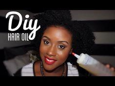 DIY Natural & Organic Hair Oil Sealant Mixture - YouTube