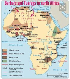 Physical map that shows the mountain ranges rainforest desert a map displaying kilwa and other african kingdoms gumiabroncs Gallery
