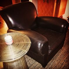 SOLD! - Pottery Barn Leather Chair @ A Life Designed