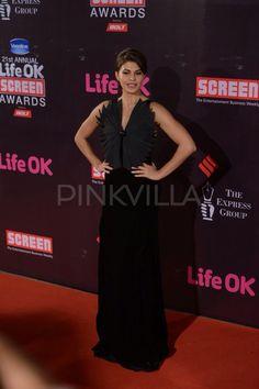 Jacqueline at Life OK Screen Awards 2015.