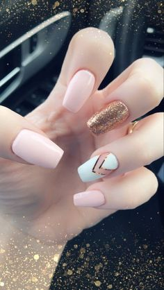 Try some of these designs and give your nails a quick makeover, gallery of unique nail art designs for any season. The best images and creative ideas for your nails. Summer Acrylic Nails, Cute Acrylic Nails, Acrylic Nail Designs, Summer Nails, Cute Nails, Pretty Nails, Simple Acrylic Nail Ideas, Cute Simple Nail Designs, Best Nail Designs