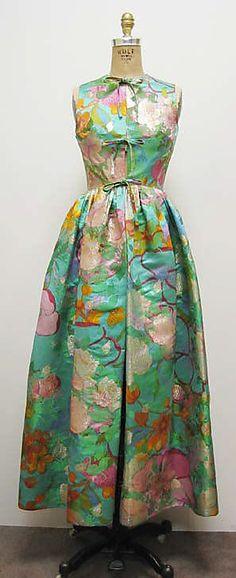 Ensemble Madame Grès (Alix Barton)  (French, Paris 1903–1993 Var region) Designer: Massaro (French, founded 1894) Date: ca. 1966 Culture: French Medium: silk, metallic thread  I love flowery fabrics, yes I do. /k