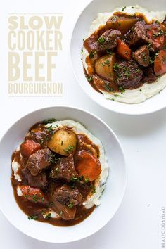 Change flour and soy sauce.  Slow Cooker Beef Bourguignon _ Real Food by Dad