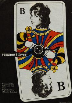 Vie Privée (A Very Private Affair) 1964 Czech Film Poster, Fremund Orson Welles, French Films, Brigitte Bardot, Queen Of Hearts, Is 11, Film Movie, Film Poster, Movie Posters, Affair