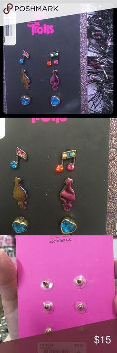 8ad0c3eebd5 Betsey Johnson Trolls earrings These little fun