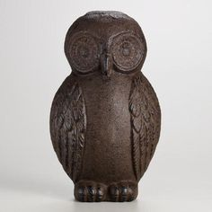 The door stops here with our Cast Iron Owl Doorstop. This wide-eyed vintage-inspired piece is a wonderful addition to your stoop or a thoughtful gift for the bird lover. Its artistic cast iron silhouette harkens back to the Victorians who were the first to use sculptural elements to prop open a door.