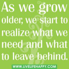 growing older....
